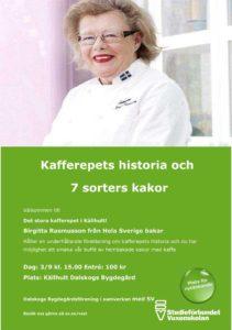 Kafferepets historia Birgitta Rasmusson 3 september